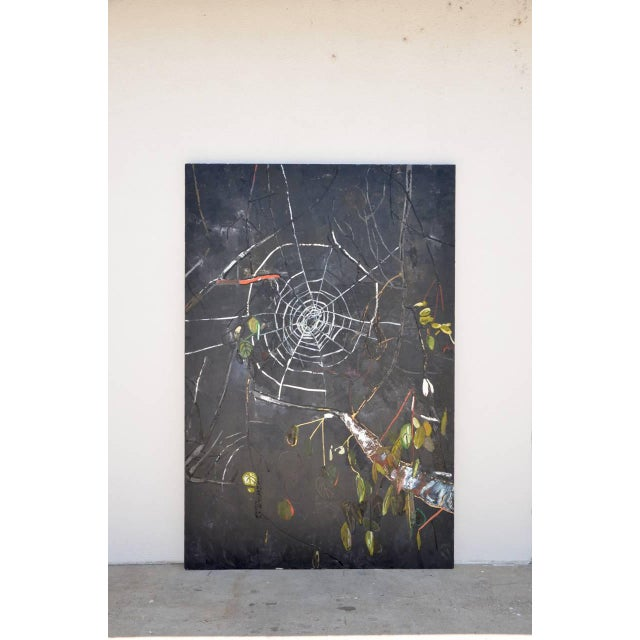 Oversized Oil on Canvas Painting by Portia Hein For Sale In Los Angeles - Image 6 of 6