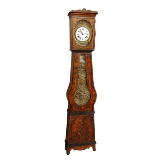 Antique 19th Century French Grandfather Clock (Morbier) For Sale