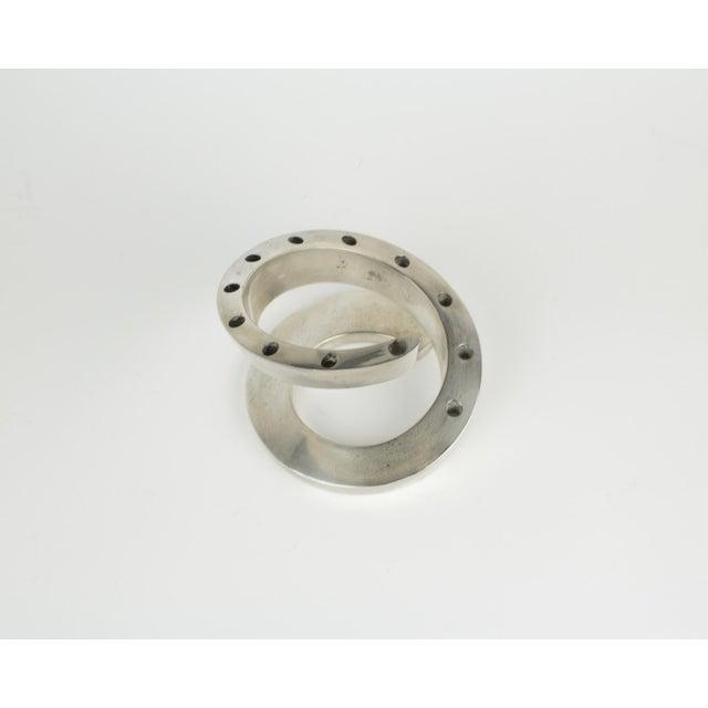 Metal 1960s Minimalistic Dansk Silver Spiral Candle Holder For Sale - Image 7 of 11