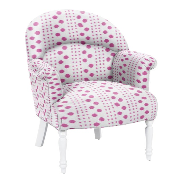 Virginia Kraft for Casa Cosima Napolean III Chair, Polkat, Rose For Sale