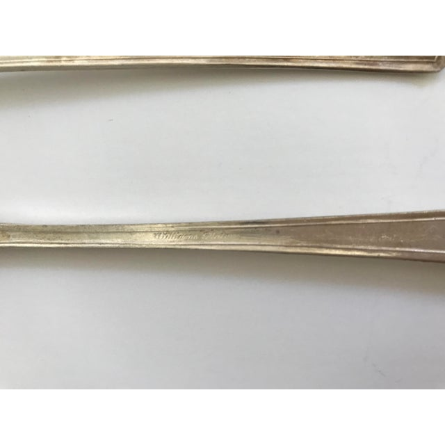 Antique Williams Silver Plate Appetizer Forks - Set of 7 For Sale - Image 4 of 5