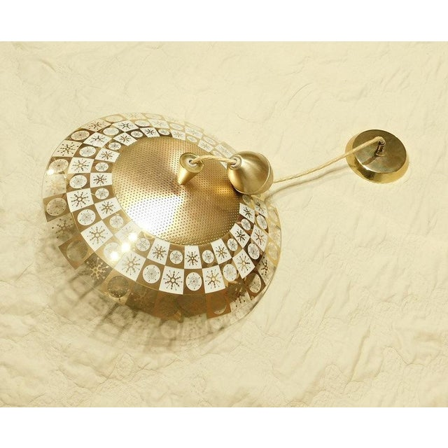 Lightoleir Mid-Century Retractable Atomic Saucer Chandelier - Image 5 of 6