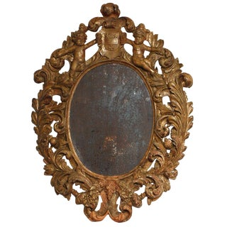 Highly Carved Italian Mirror For Sale