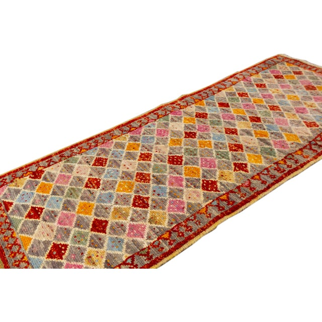 "Afghan Modern Gabbeh Rug, 2'0"" X 5'2"" For Sale - Image 3 of 10"