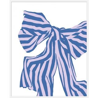 "Large ""Lilac Bow"" Print by Angela Chrusciaki Blehm, 38"" X 48"" For Sale"