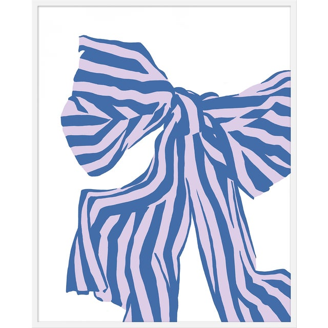 """Large """"Lilac Bow"""" Print by Angela Chrusciaki Blehm, 38"""" X 48"""" For Sale"""