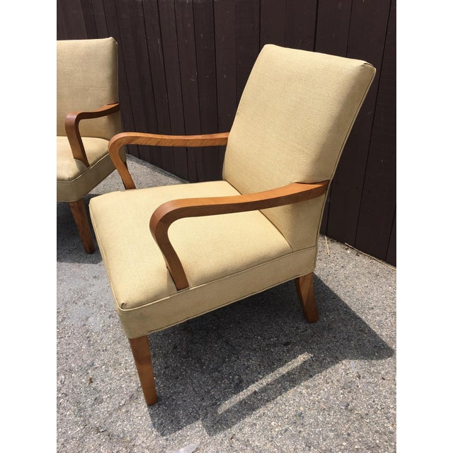 Art Deco Club Chairs - Pair - Image 4 of 10