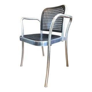 Mid Century Modern Italian Aluminum Accent Chair For Sale