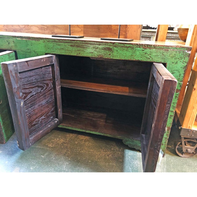 Emerald Green Mongolian Sideboard For Sale In Los Angeles - Image 6 of 8