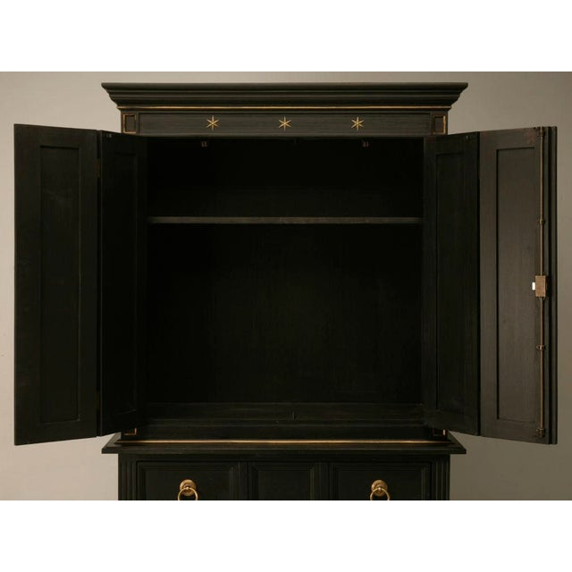 Early 20th Century Vintage Jacques Adnet Style Cupboard, Bar, or TV Cabinet For Sale - Image 5 of 11