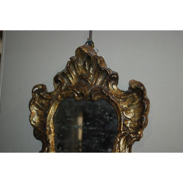Rococo Pair of Venetian Gilted Mirrored Sconces For Sale - Image 3 of 7