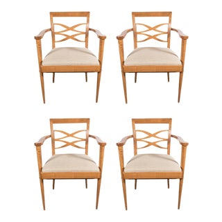 Exquisite Set of Four Mid-Century Dining Chairs For Sale