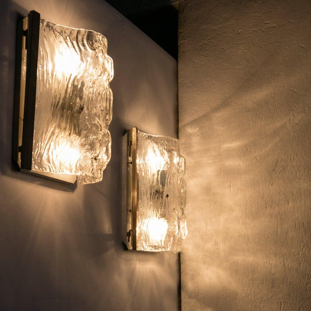 Excellent Pair of Toni Zuccheri Wall Lights for Venini | DECASO