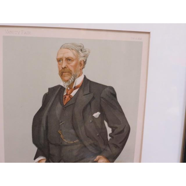 Figurative 1896 Antique Vanity Fair Men of the Day Lithograph Print For Sale - Image 3 of 7