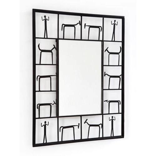 1950s MCM Frederick Weinberg Iron Wall Mirror 1950s For Sale - Image 5 of 8
