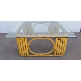 1970s Vintage Bamboo Squared Coffee Table Preview