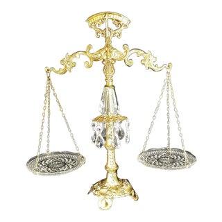 Mid 20th Century Vintage Ornate Justice Scale