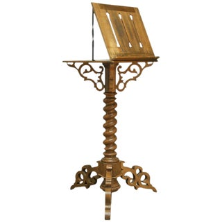 Monumental Italian Carved Oak Lectern Book Stand For Sale