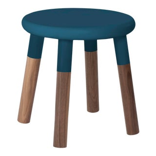 Peewee Kids Chair in Walnut With Deep Blue Finish For Sale