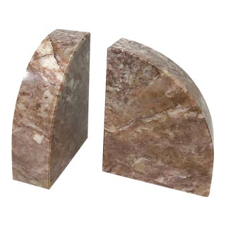 Domed Marble Bookends, Pair For Sale