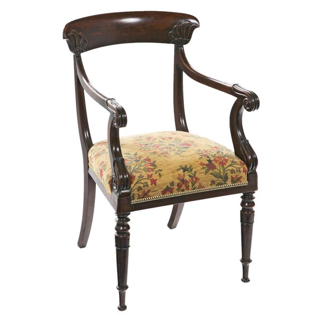 French Restoration Mahogany Armchair For Sale - Image 9 of 9