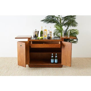 Drexel Midcentury Campaign Style Dry Bar Cart Server Preview