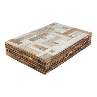 Piet Hein Scrapwood Coffee Table For Sale