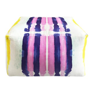 Kristi Kohut Sailor Stripes Pouf For Sale