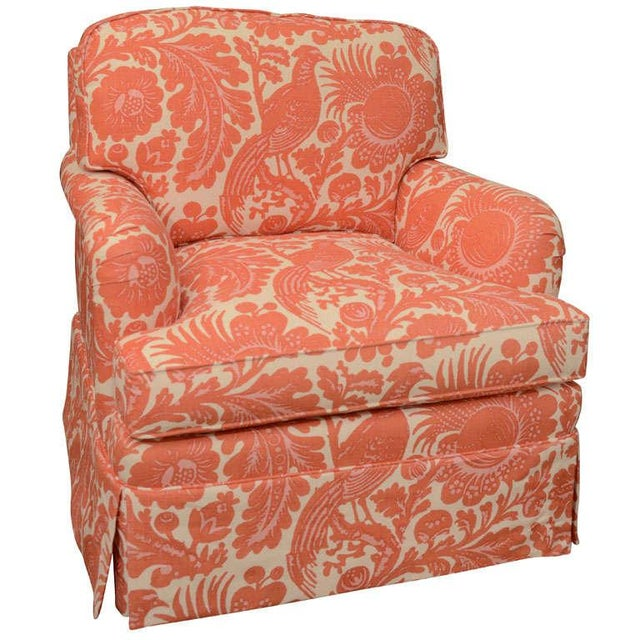 Classic English Style Club Chair in Scalamandre - Image 1 of 6