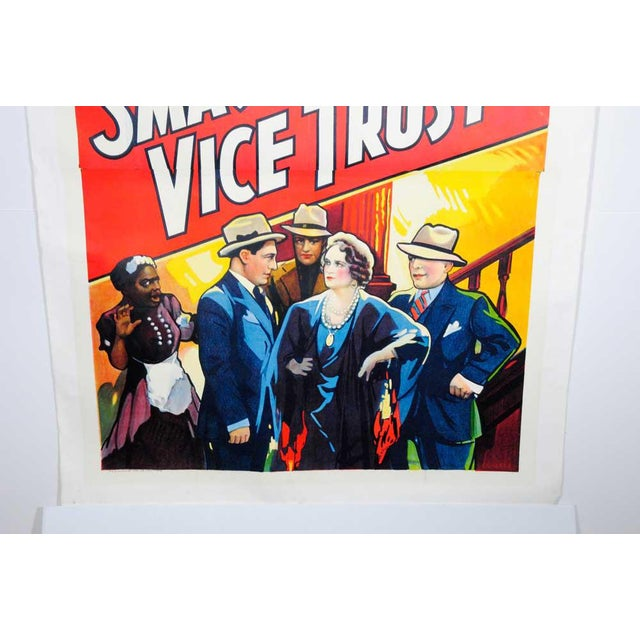 Pop Art Smashing the Vice Trust Movie Poster For Sale - Image 3 of 6