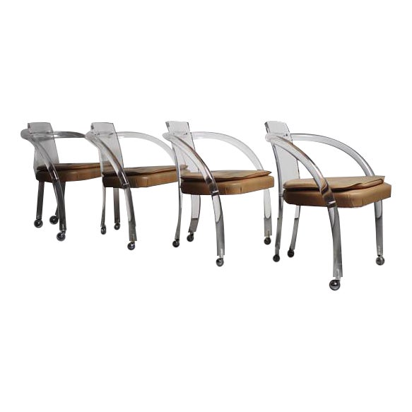 Charles Hollis Jones Dining Chairs- Set of 4 For Sale