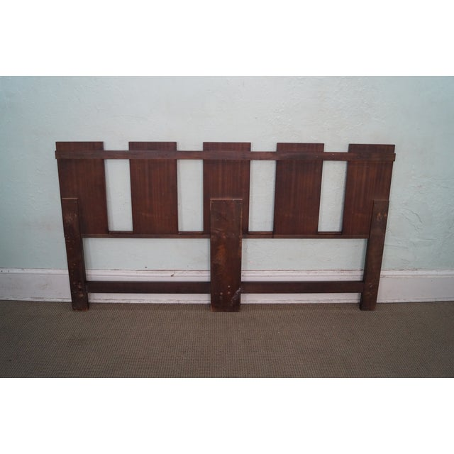 Mid Century Walnut Floating Panel King Size Headboard For Sale - Image 4 of 10