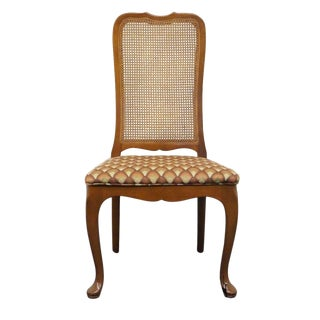Late 20th Century Vintage Georgetown Galleries Solid Cherry Cane Back Side Chair For Sale