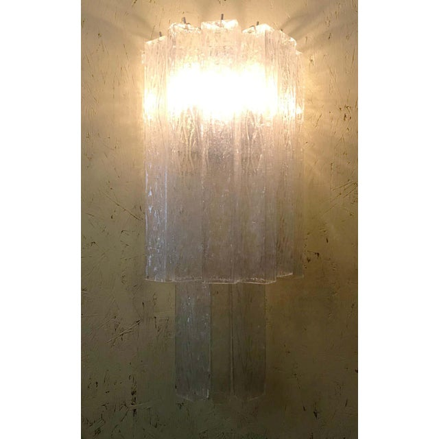 Mid 20th Century Italian Murano Glass Tubes Sconces - a Pair For Sale - Image 5 of 12