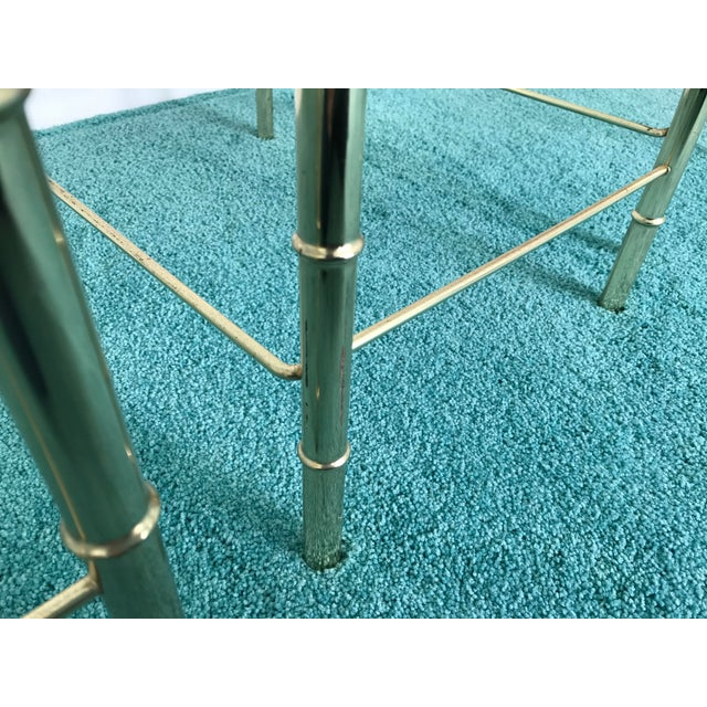 Vintage Glass Top and Metal Nesting Tables- Set of 3 For Sale - Image 11 of 13