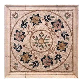 Mosaic Tile Medallion Centerpiece For Sale