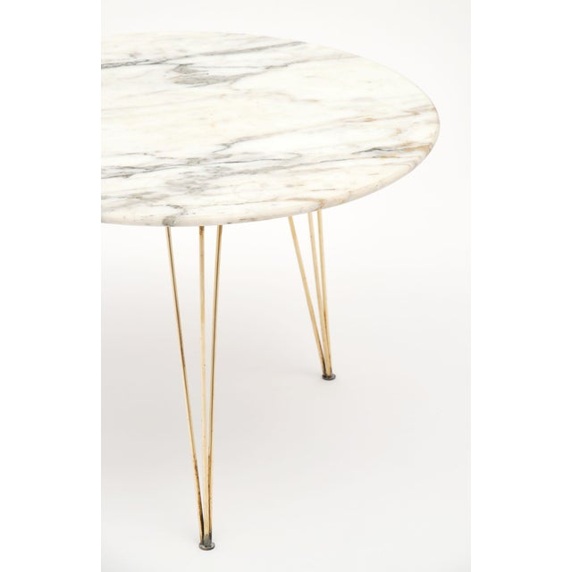Vintage Mid-Century Italian Marble Top Table For Sale In Austin - Image 6 of 10