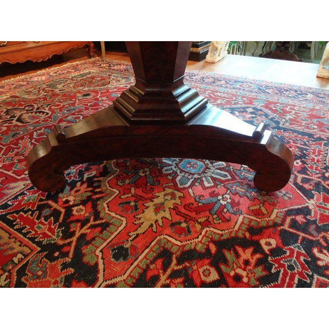 19th Century French Restauration Period Walnut Center Table For Sale - Image 4 of 11