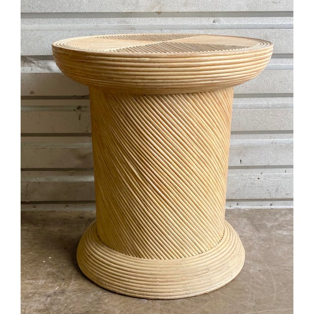 Pretzel Reed Pedestal Table Base For Sale - Image 4 of 6