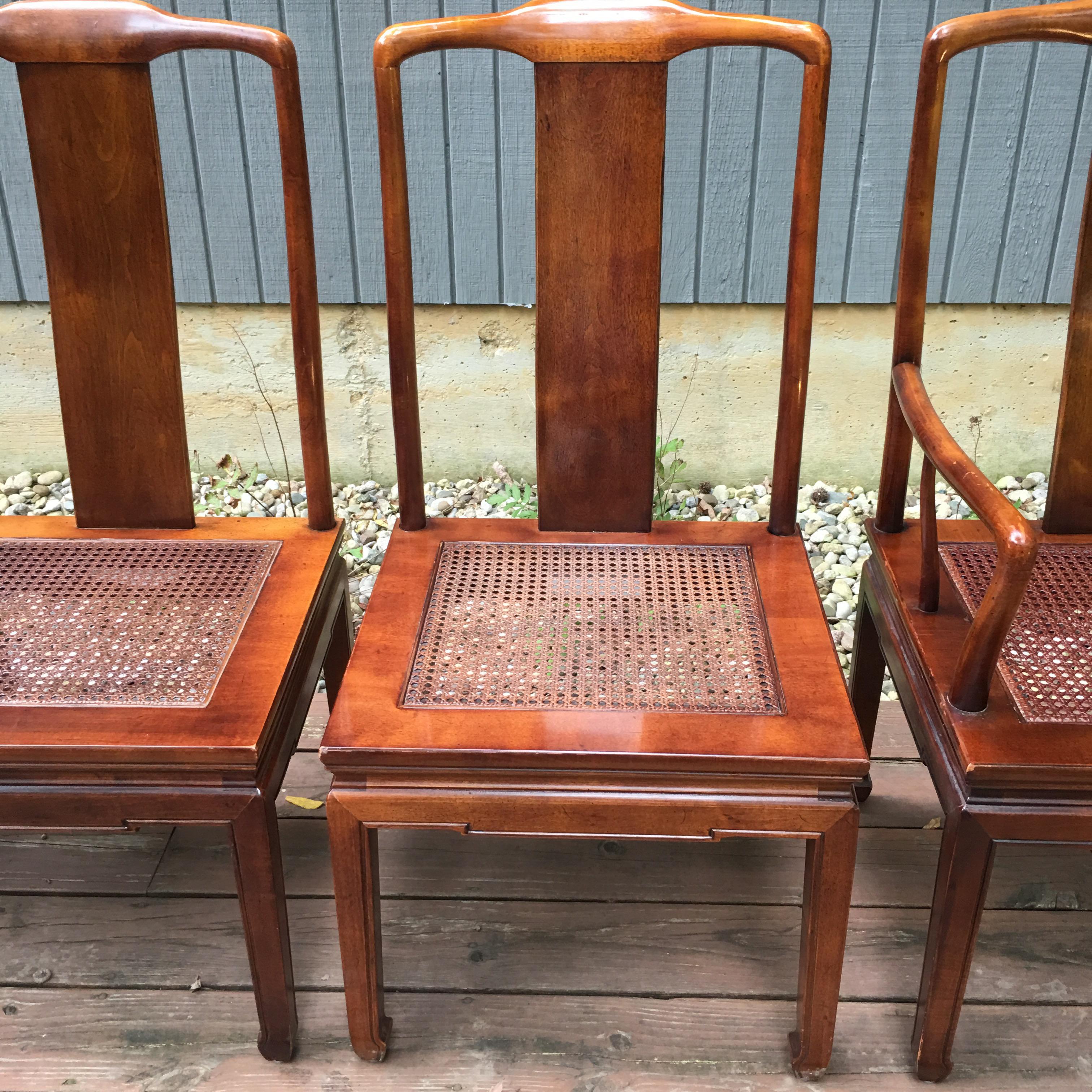 Ordinaire Asian Henredon Asian Inspired Dining Chairs   Set Of 6 For Sale   Image 3 Of