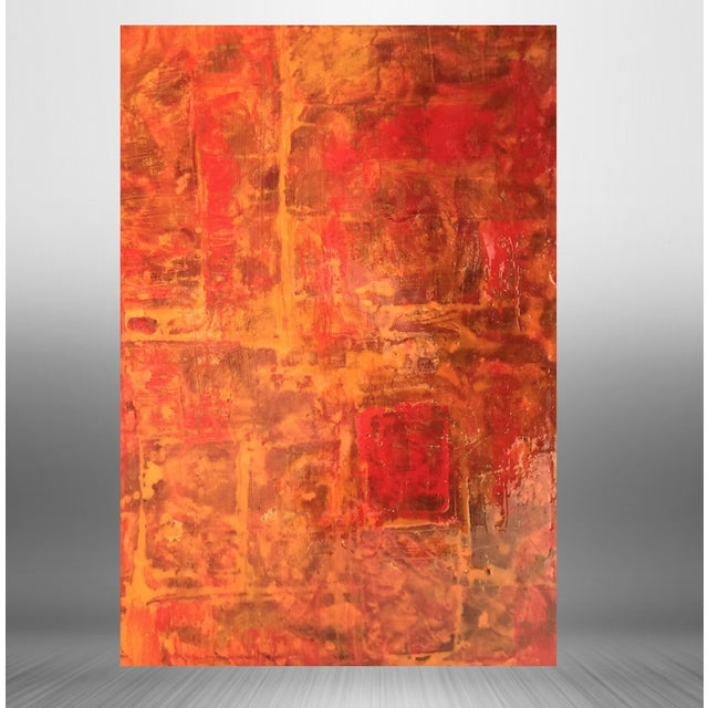 Bryan Boomershine Red-Orange Abstract Painting - Image 2 of 5