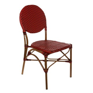 Red & Black Color Café Bistro Chair