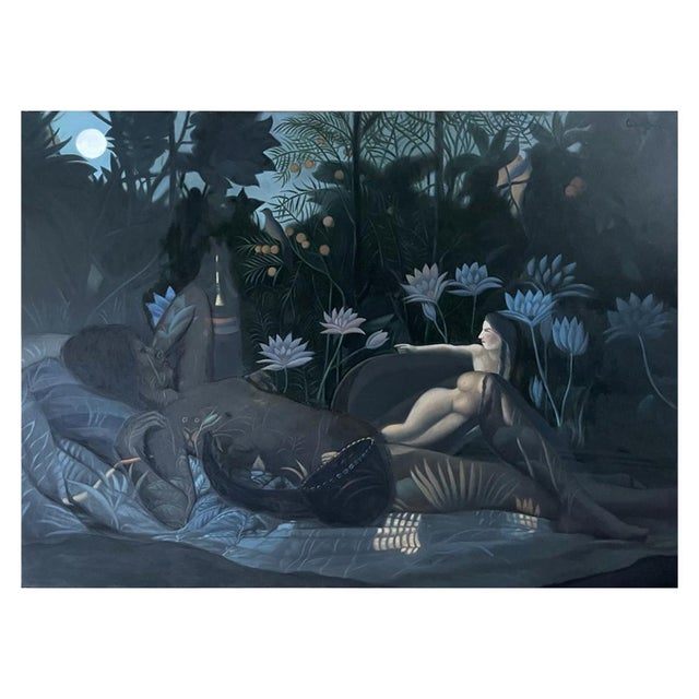 Oil Painting on Canvas by Yang Qian For Sale - Image 13 of 13