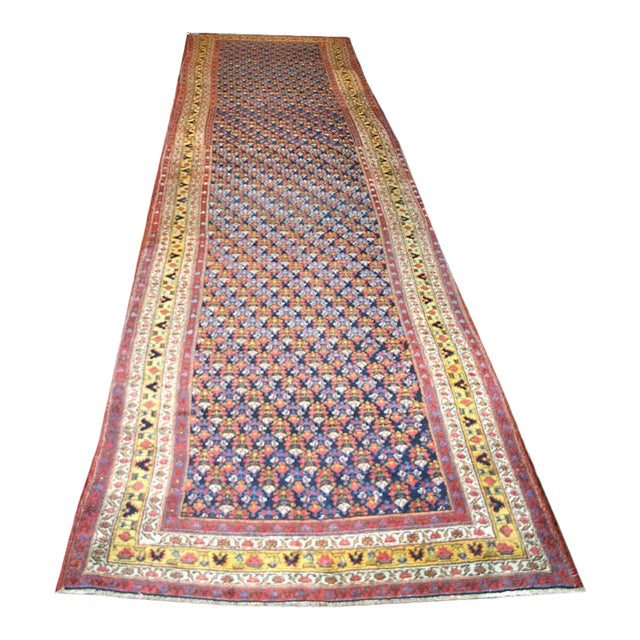 Antique Gallery Size Persian Malayer Rug - 5′6″ × 20′ For Sale