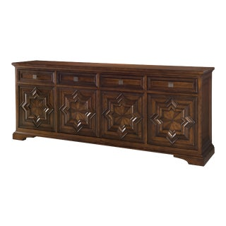 Century Furniture Casa Bella Carved Credenza - Sierra Finish For Sale