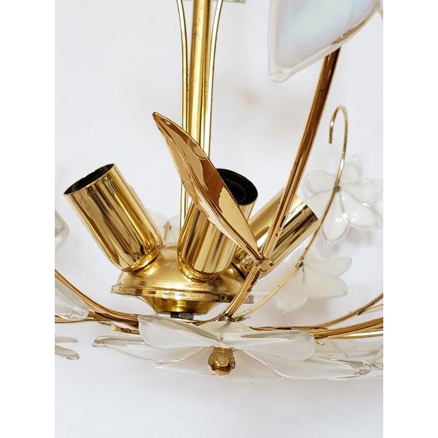 Mid Century Italian Murano Glass Chandelier For Sale - Image 10 of 12
