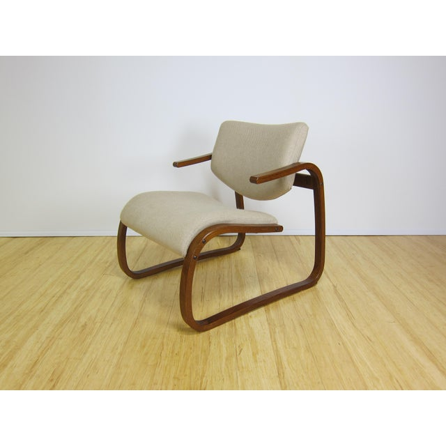 1970s Danish Modern Oddvin Rykken Cantilever Bentwood Lounge Chair For Sale - Image 11 of 11
