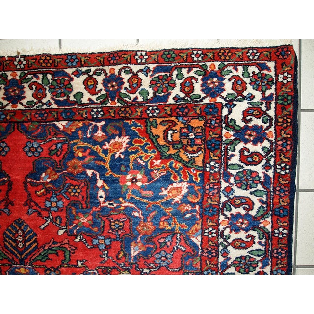 1970s Hand Made Vintage Persian Mashad Rug - 4′7″ × 6′4″ For Sale - Image 10 of 10