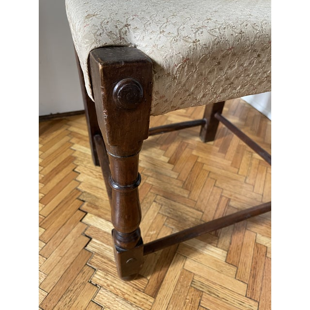 17th Century Italian Florentine Hand Carved Upholstered Walnut Side Chair For Sale In Minneapolis - Image 6 of 13