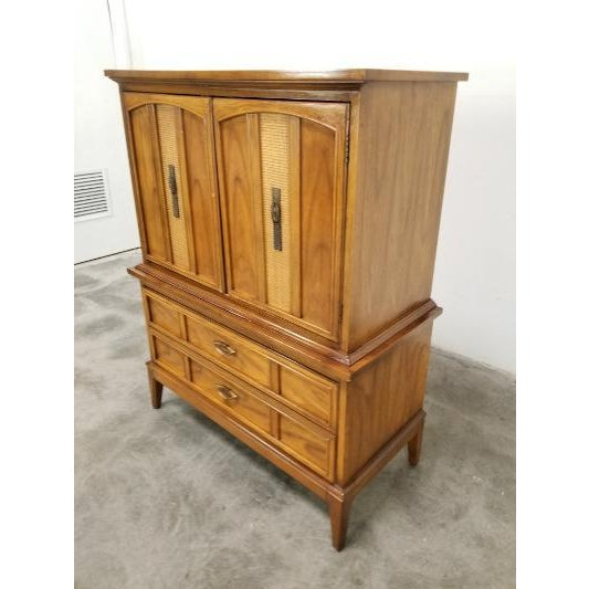 Brown 1960s Dixie Mid-Century Highboy Dresser For Sale - Image 8 of 13